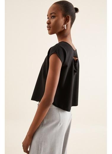 Quincey Sırt Detaylı Bluz Siyah